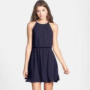 Lush Navy Blue sleeveless short dress